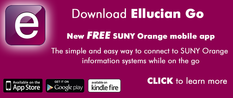 SUNY Orange has a NEW Mobile App!